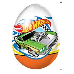 HOT WHEELS SURPRISE CHOCOLATE EGG with 3D TOY INSIDE- the dream of every boy