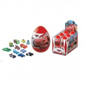 """SURPRISE EGG with 3D TOY and DROPS INSIDE DISNEY """"Cars """" as Kinder Surprise Egg"""