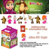 SWEETBOX jelly beans with vitamin C, 3D toy inside MASHA AND THE BEAR as Kinder Surprice Egg