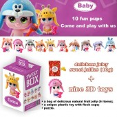 """SWEETBOX Fruit jelly with a toy in a box """"SMALL DOLLS"""" 12 boxes/10 items (10g)"""