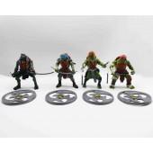 Набор игрушек Черепашки-ниндзя 4 шт Набор игрушек Черепашки-Нинзя в блистере Ninja Turtles Большие Фигурки