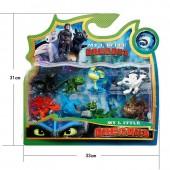 Набор игрушек из мультфильма Как приручить дракона Dragons   8 Фигурок  Как приручить дракона 3 в блистере