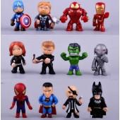 Фигурки  героев мультфильма Спайдермен 12 штук