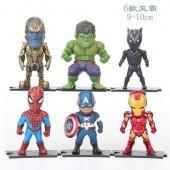 Фигурки героев кинофильма Мстители 6 штук