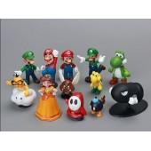 Фигурки героев  игры Супер Марио Super Mario Bros 12 штук