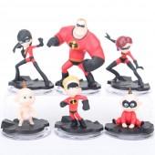 Фигурки героев мультфильма Суперсемейка 6 штук