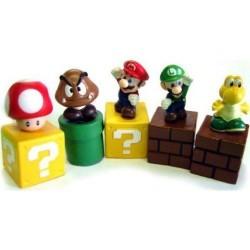 Фигурки героев игры Super Mario Bros 5 штук